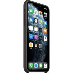 apple »iphone 11 pro max silikon case« smartphone-hoes zwart