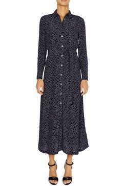 tommy hilfiger maxi-jurk »kacy maxi shirt dress ls« blauw