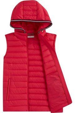 tommy hilfiger bodywarmer »th essential lw dwn pack vest« rood