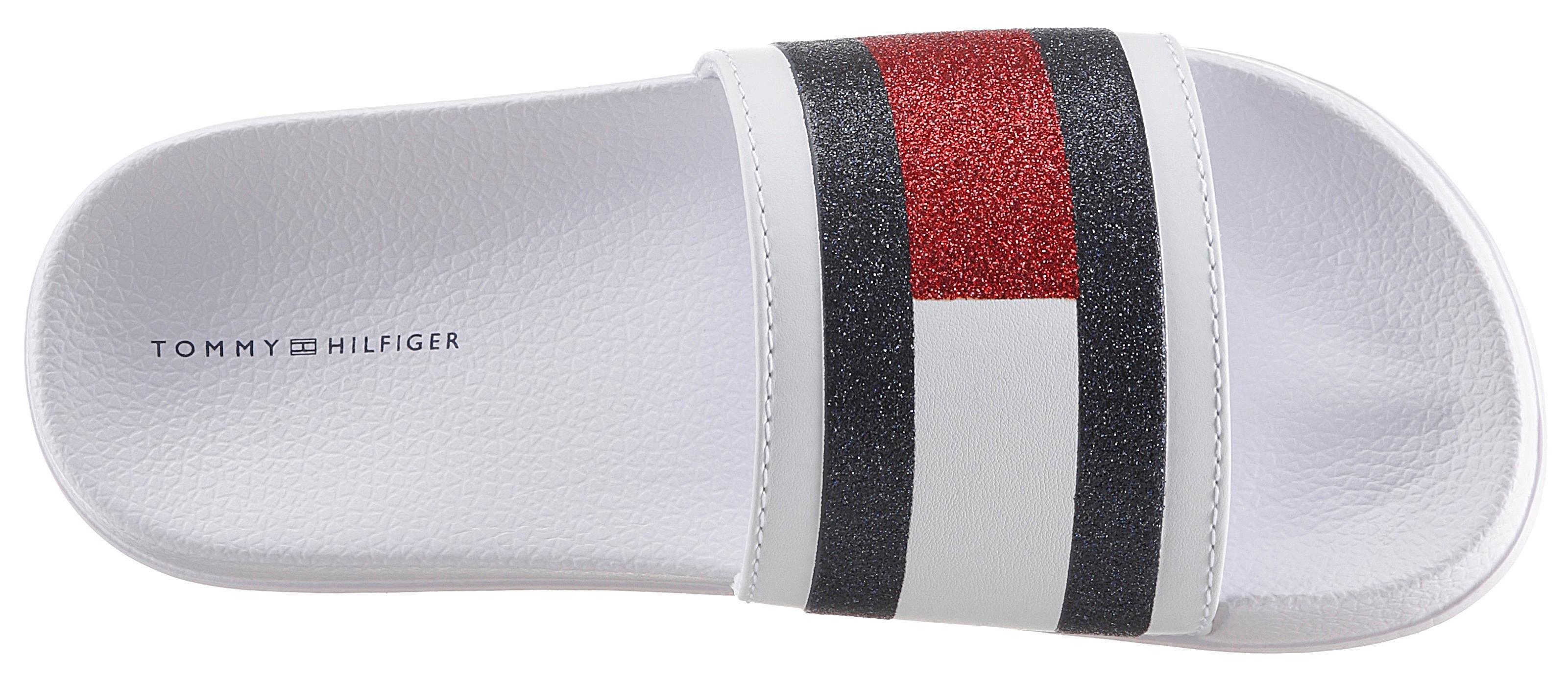 TOMMY HILFIGER slippers »Flag Print Pool Slide« online kopen op otto.nl