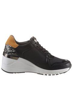 dockers by gerli sneakers met sleehak zwart