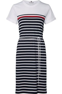 tommy hilfiger jerseyjurk »balou regular c-nk dress ss« wit