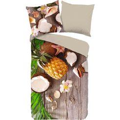 good morning tweezijdig te gebruiken overtrekset »coconut«, good morning bruin