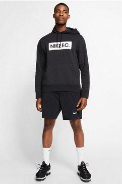 nike hoodie »f.c. men's pullover fleece hoodie« zwart