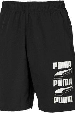 puma short »rebel bold woven shorts boys« zwart