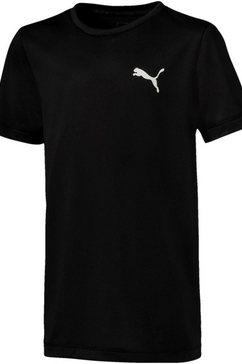 puma functioneel shirt »active tee boys« zwart