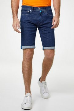 pierre cardin futureflex denim bermuda, super elastisch - regular fit blauw