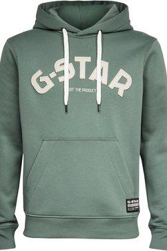 g-star raw hoodie »varsity felt hdd« groen