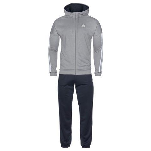 adidas trainingspak grijs-donkerblauw