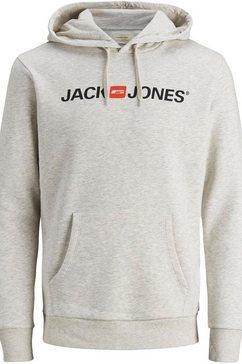 jack  jones hoodie »jack  jones logo hoodie oldschool« grijs