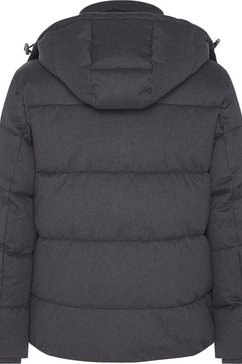 calvin klein gewatteerde jas »quilted wool optic hooded jacket« grijs