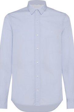 calvin klein overhemd met lange mouwen »slim fit stretch poplin shirt« blauw