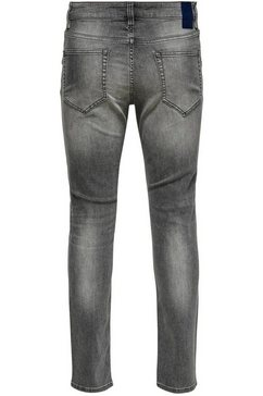 only  sons slim fit jeans »loom« grijs