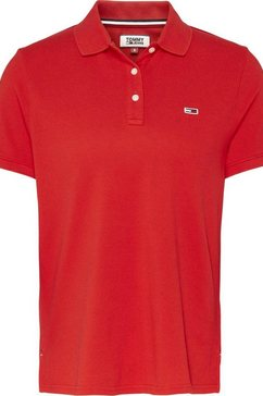 tommy jeans poloshirt »tjw tommy classics polo« rood