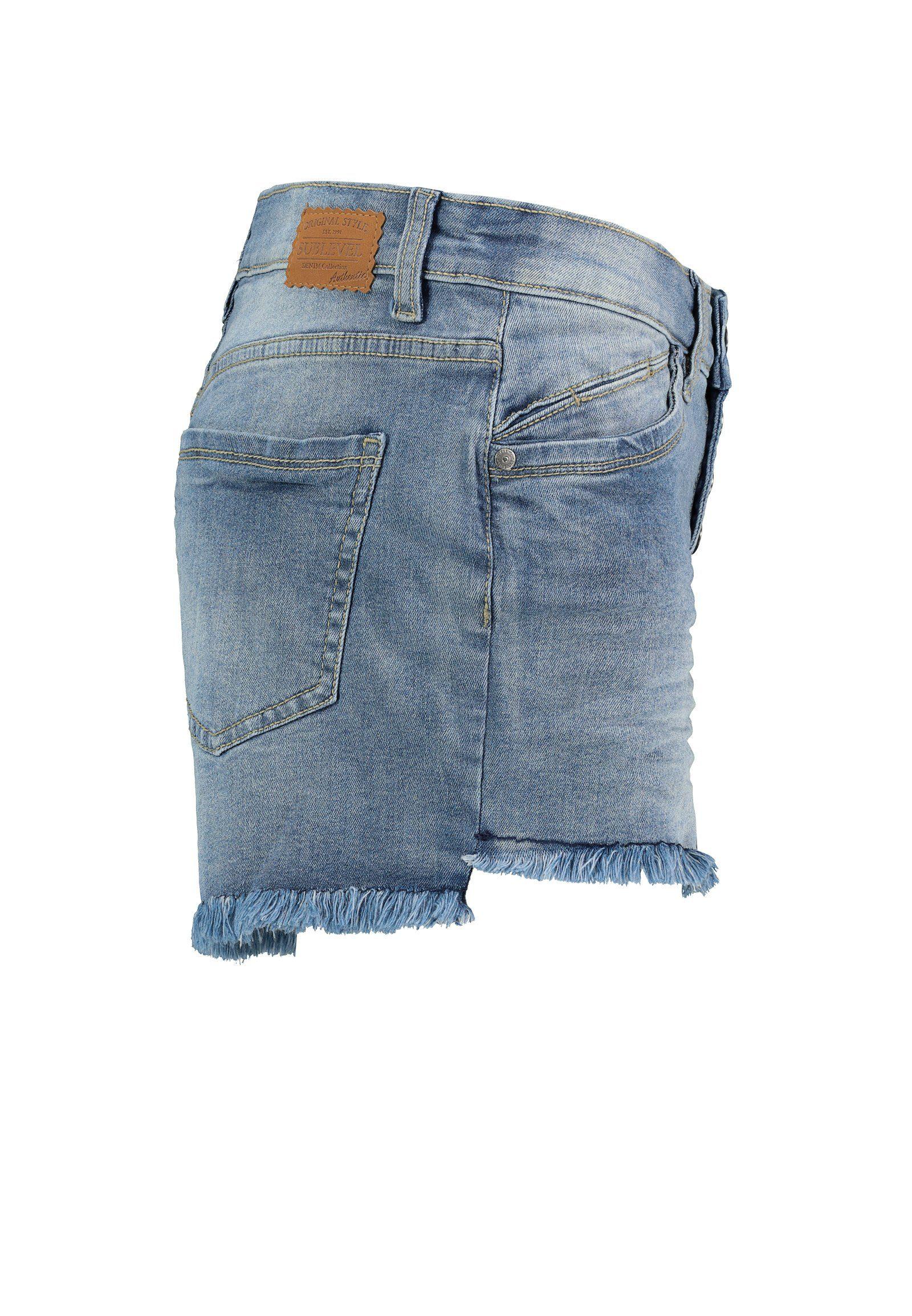 Sublevel Jeansshort Online Shop - Geweldige Prijs