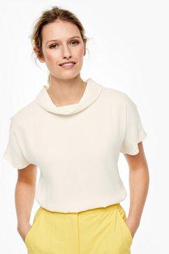 s.oliver black label crêpe blouse met knoopjes als detail wit
