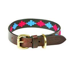 """weatherbeeta hondenhalsband """"polo lederen hondenhalsband"""", textiel roze"""
