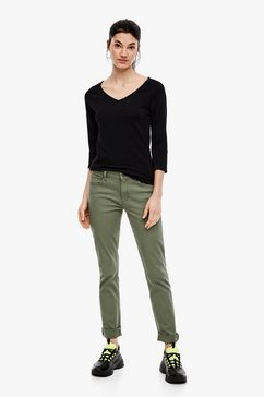 q-s designed by jacquard shirt zwart
