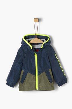 s.oliver junior sportieve, gewatteerde jas in functioneel design voor baby blauw