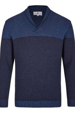 hajo trui met sjaalkraag blauw