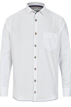 jupiter trendy folklore-overhemd lange mouwen bruin