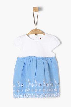 s.oliver junior jurk van slubgaren met ruches voor baby blauw