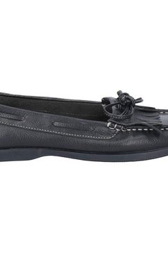 hush puppies mocassins »damen leder-« schwarz