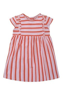 tom tailor jurk in a-lijn »gestreiftes kleid mit rueschen« paars
