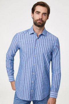 pierre cardin overhemd gestreept blauw