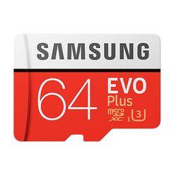 samsung microsd class 10 evo+ 64gb rood