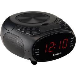 lenco wekkerradio cr-740 zwart