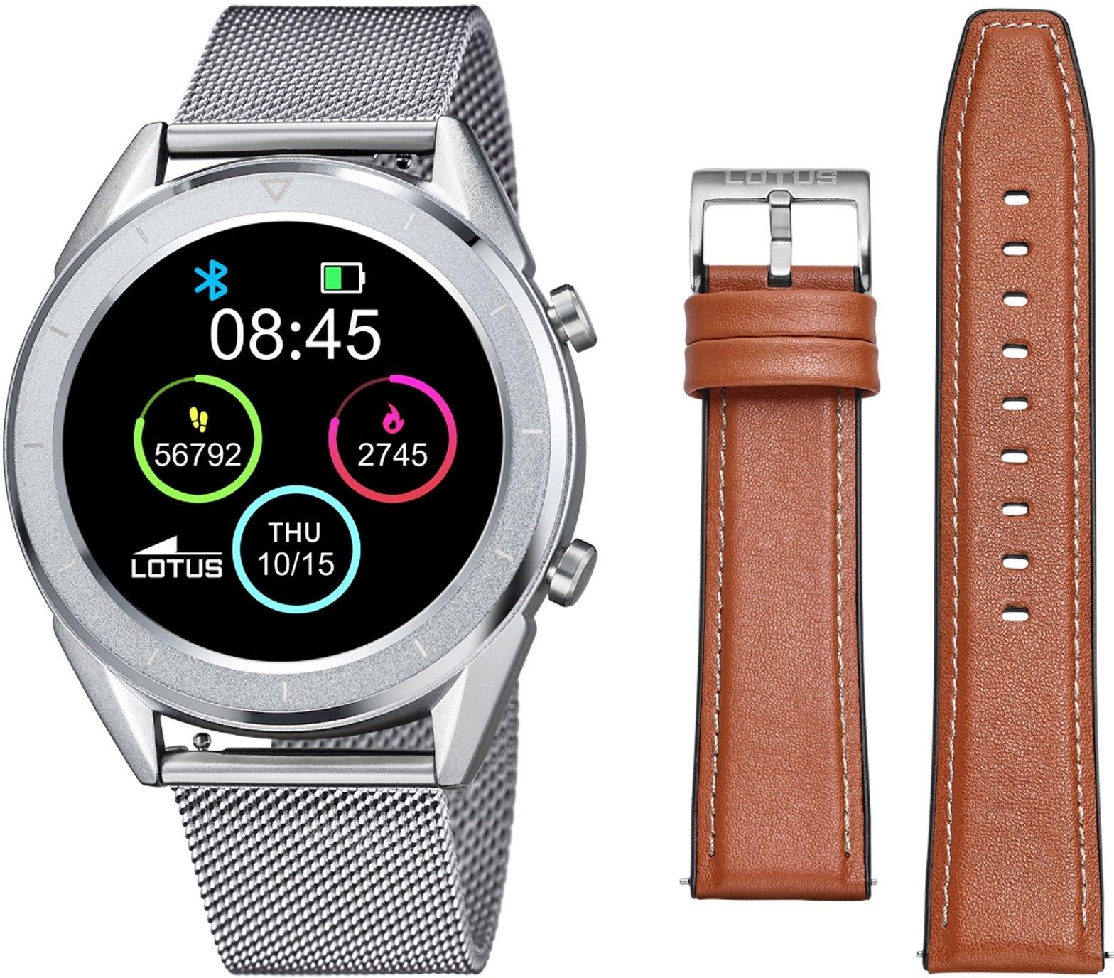 Lotus smartwatch »Smartime, 50006/1« (Met wisselband van echt leer en oplaadkabel) voordelig en veilig online kopen