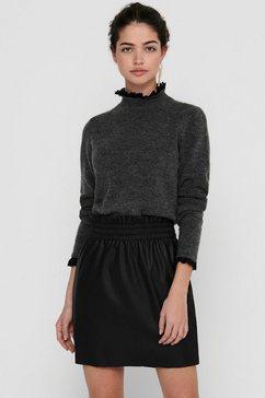 only trui met staande kraag onlelsie met kant grijs