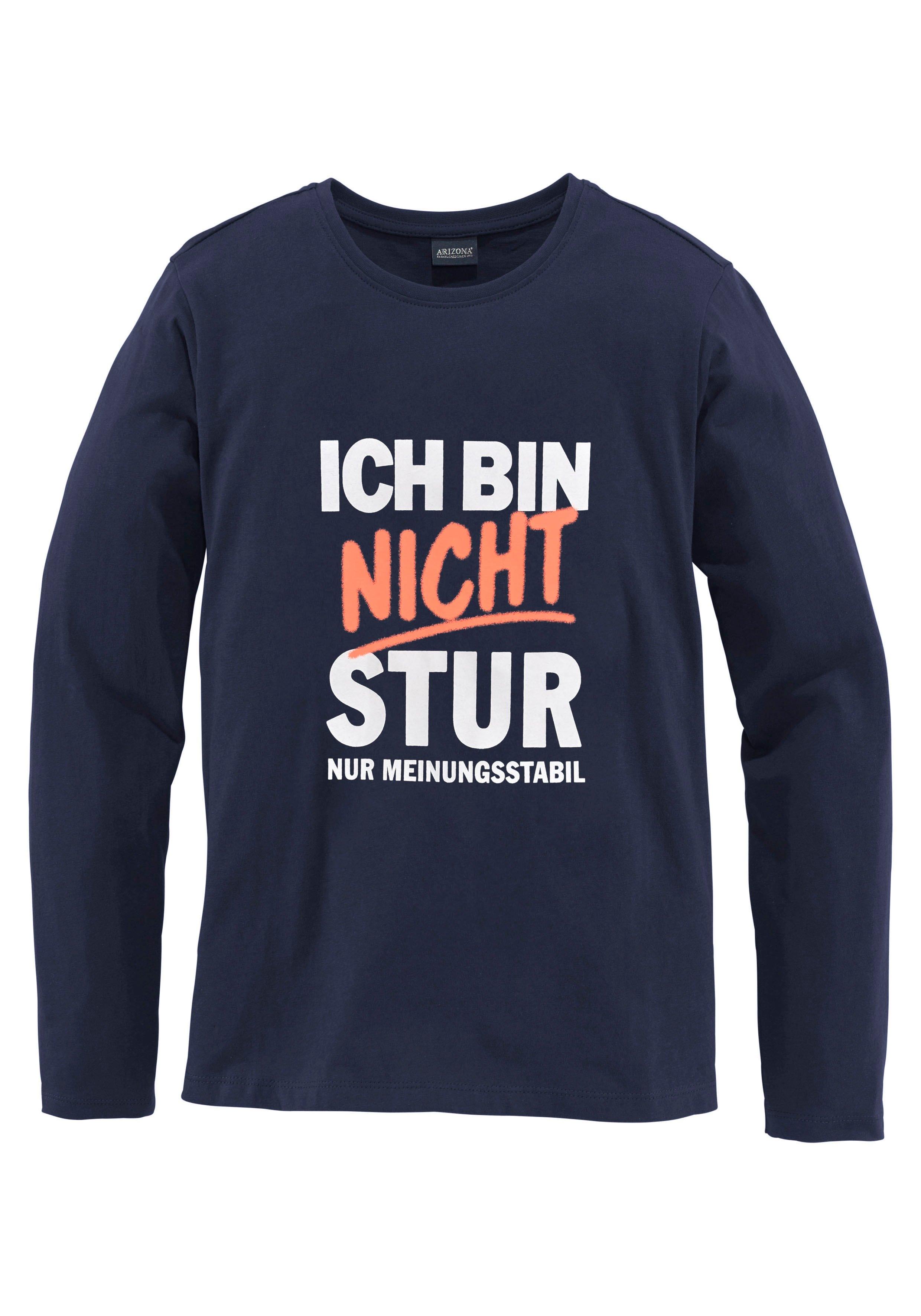KIDSWORLD shirt met lange mouwen »Ich bin nicht stur« - verschillende betaalmethodes