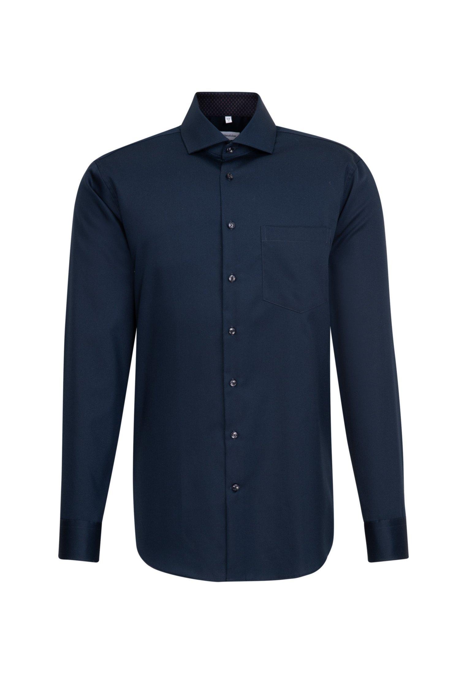 seidensticker businessoverhemd Regular Regular lange mouwen kentkraag uni in de webshop van OTTO kopen