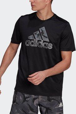 adidas performance t-shirt »m camo gt1« zwart