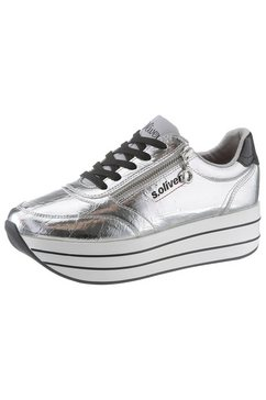 s.oliver plateausneakers zilver