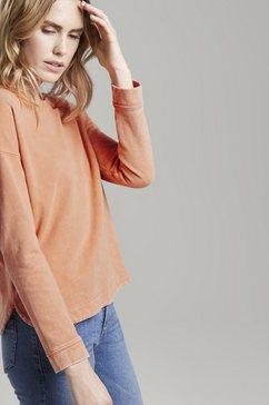 tom tailor sweatshirt »sweatshirt im acid washed-look« oranje