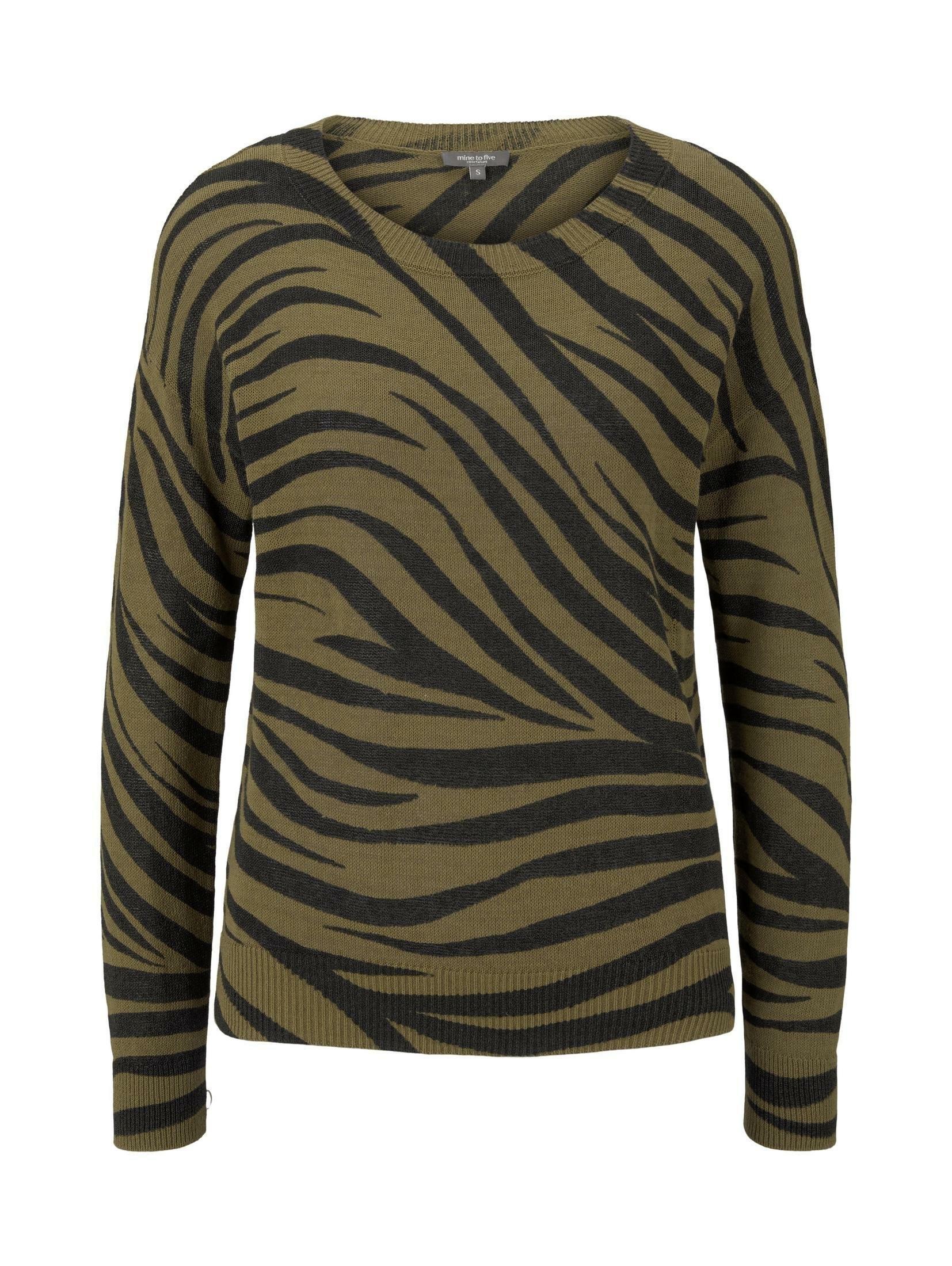 Tom Tailor Mine To Five gebreide trui »Pullover im Zebra-Muster« in de webshop van OTTO kopen