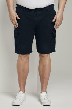 tom tailor men plus short »cargo morris relaxed bermuda shorts« blauw