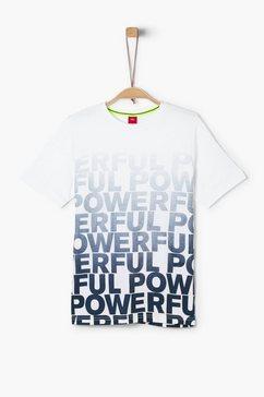 s.oliver junior t-shirt met print voor jongens wit
