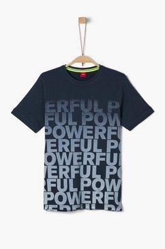 s.oliver junior t-shirt met print voor jongens blauw