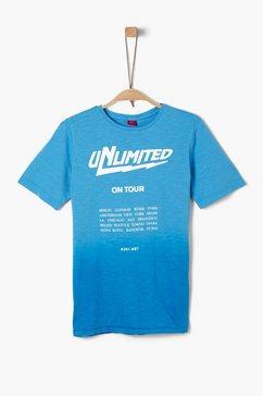 s.oliver basic jersey shirt blauw