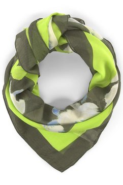 tom tailor modieus sjaaltje »gruenes tuch mit floralem print« bruin