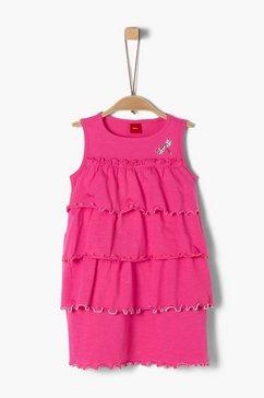 s.oliver junior cold-shoulder jurk met motief voor meisjes roze