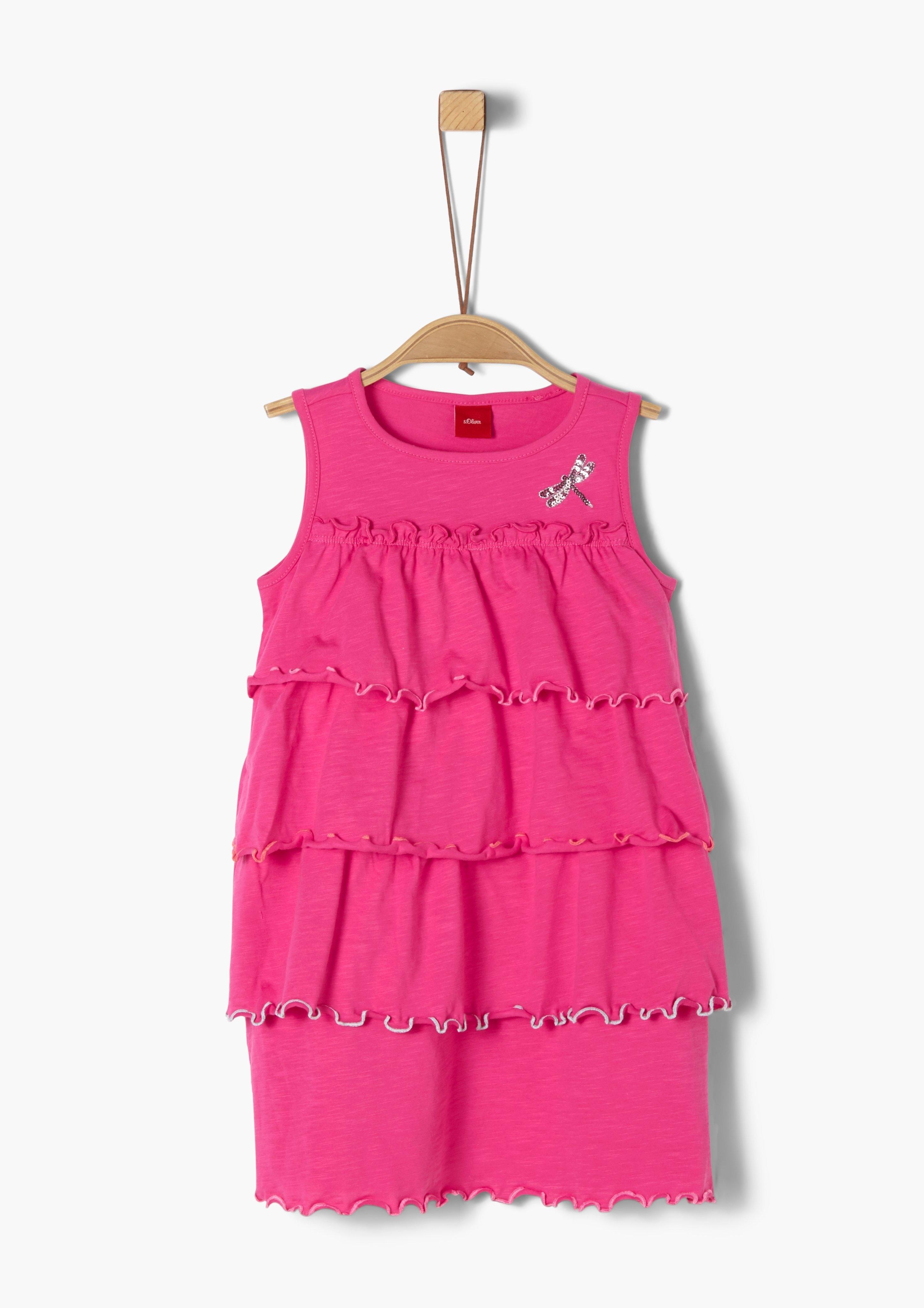 s.Oliver RED LABEL s.Oliver Junior Cold-shoulder jurk met motief voor meisjes nu online bestellen