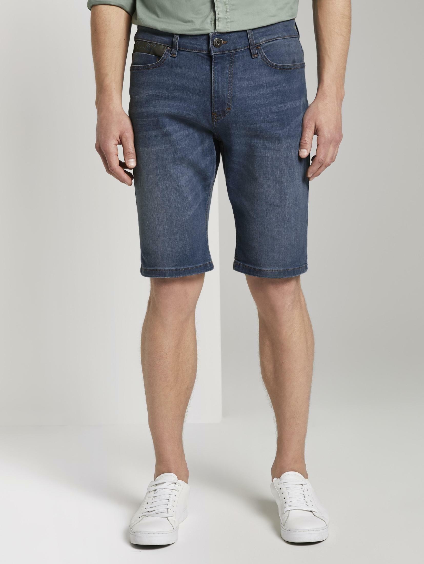TOM TAILOR jeansshort »Josh Regular Slim Jeans-Shorts mit Superstretch« voordelig en veilig online kopen