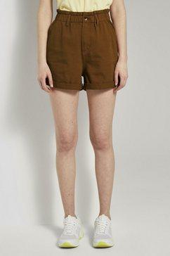 tom tailor denim jeansshort »relaxed shorts mit elastischem bund« bruin