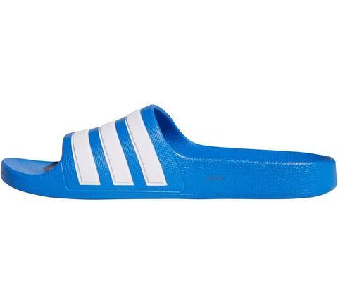 adidas performance Adilette Aqua K badslippers blauw-wit