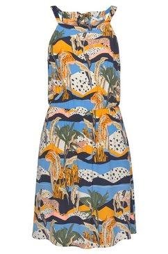 tom tailor denim gedessineerde jurk bunt